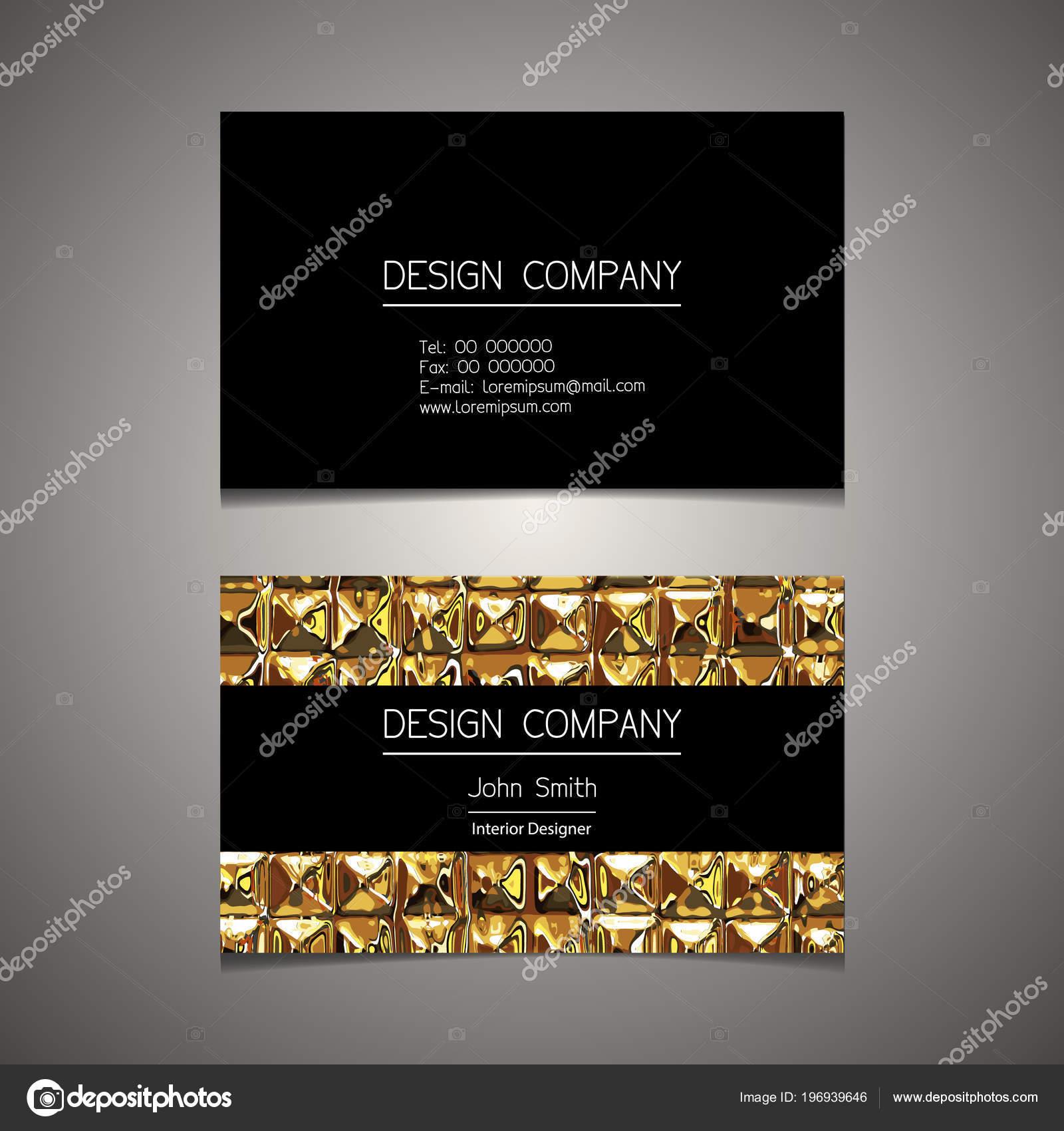 Modele Carte Visite Avec Elegant Design Image Vectorielle