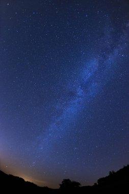 night sky with milky way, Slovakia