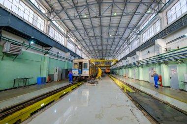 Subway train metro depot Krasnaya presnya interior