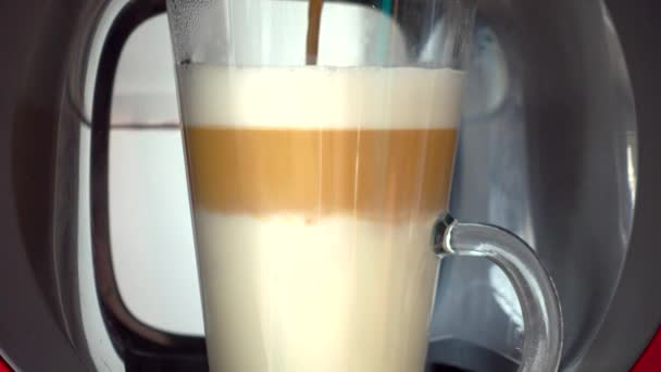 Making coffee latte or cappuccino