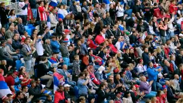 Fotbaloví fanoušci podpořit týmy na zápas mezi Srbsko a Švýcarsko