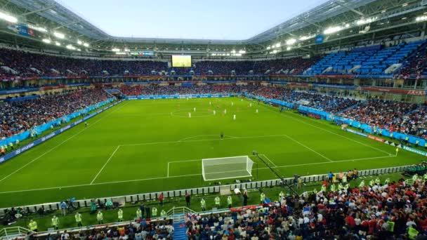 Kalinyingrád - Oroszország, május 22, 2018: Szurkolók részt stadion Kalinyingrád, mérkőzés Szerbia és Svájc között