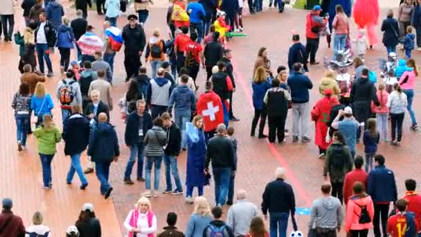 Football fans attend stadion Kaliningrad before match between Spain and Marocco
