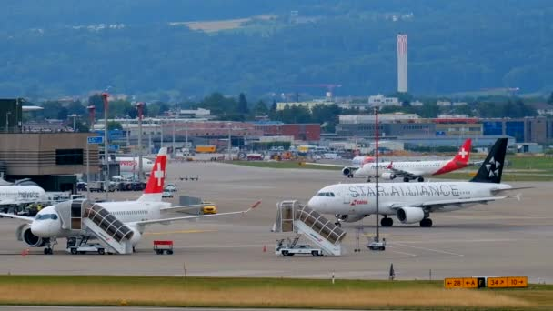 Zurich airport landscape at day time