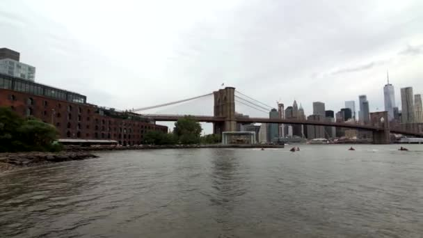 Ponte di Brooklyn e Manhattan panoramico paesaggio urbano