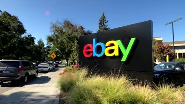 EBay v sídle firmy v silikonové údolí venkovní logo
