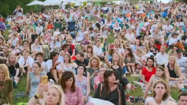 People attend open-air concert at International Jazz Festival