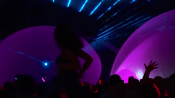 Unrecognizable female dancing during party