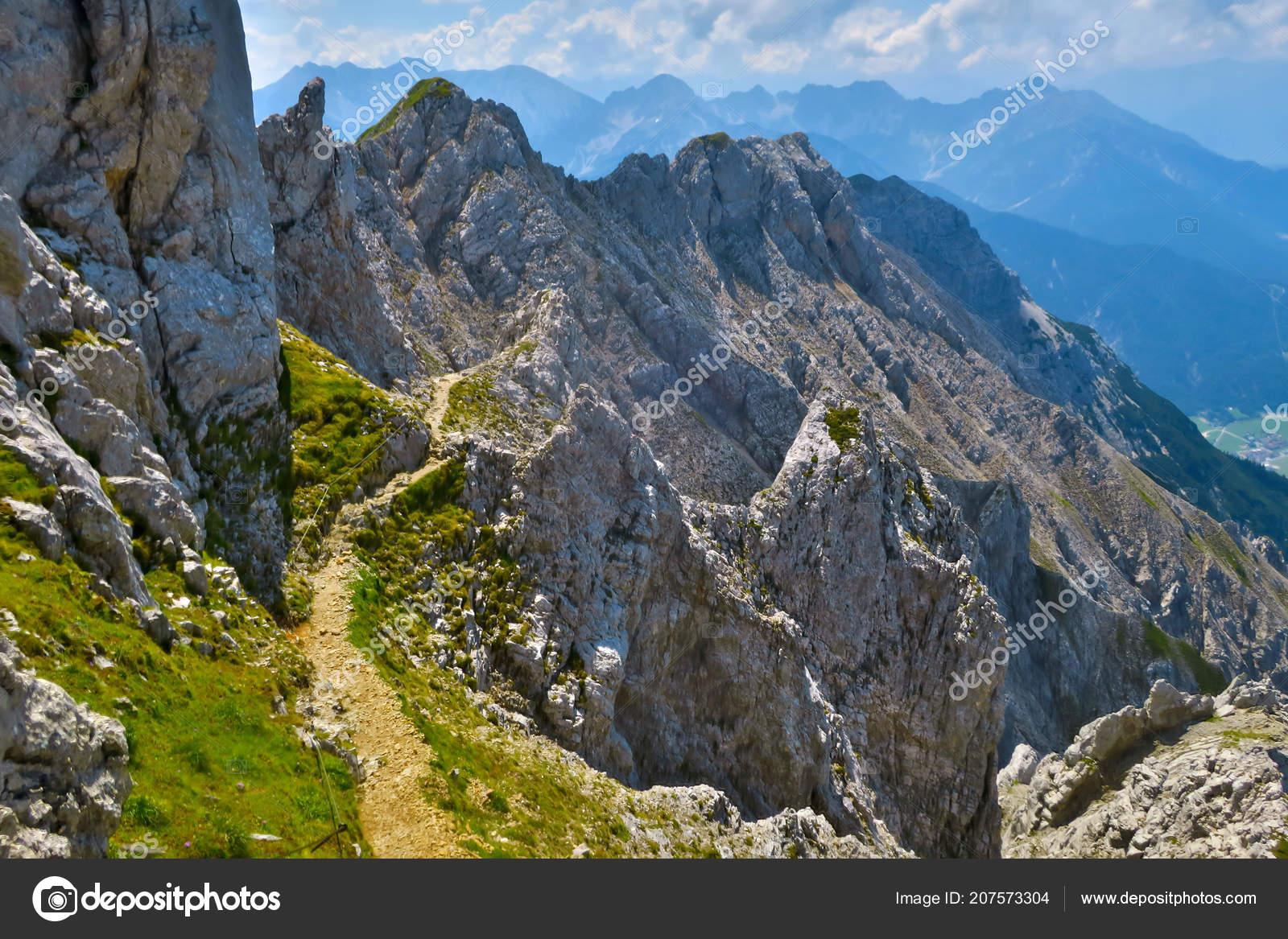 Klettersteig Mittenwald : Trail teil der klettersteig mittenwald u stockfoto bernjuer