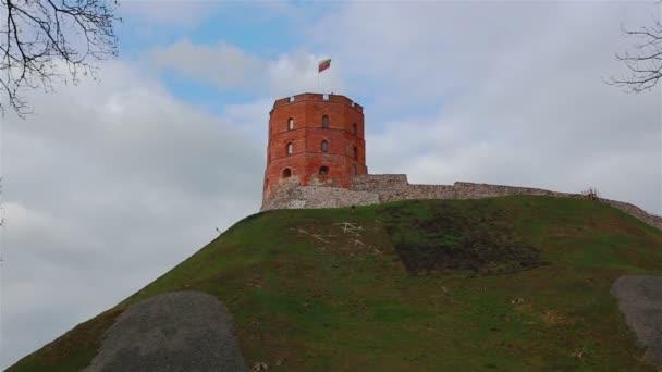 Věž Gediminas symbol Vilniusu, Litva