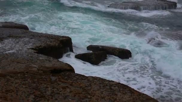 Stone coast and Atlantic ocean in Peniche. Portugal