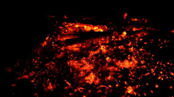 Close Up Of Hot Burning Fire Wood Coal Fire Embers And Ashes Of Big Fireplace Ablaze Smoldering