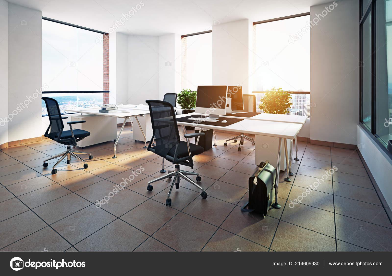 Design intérieur bureaux modernes concept rendu u photographie