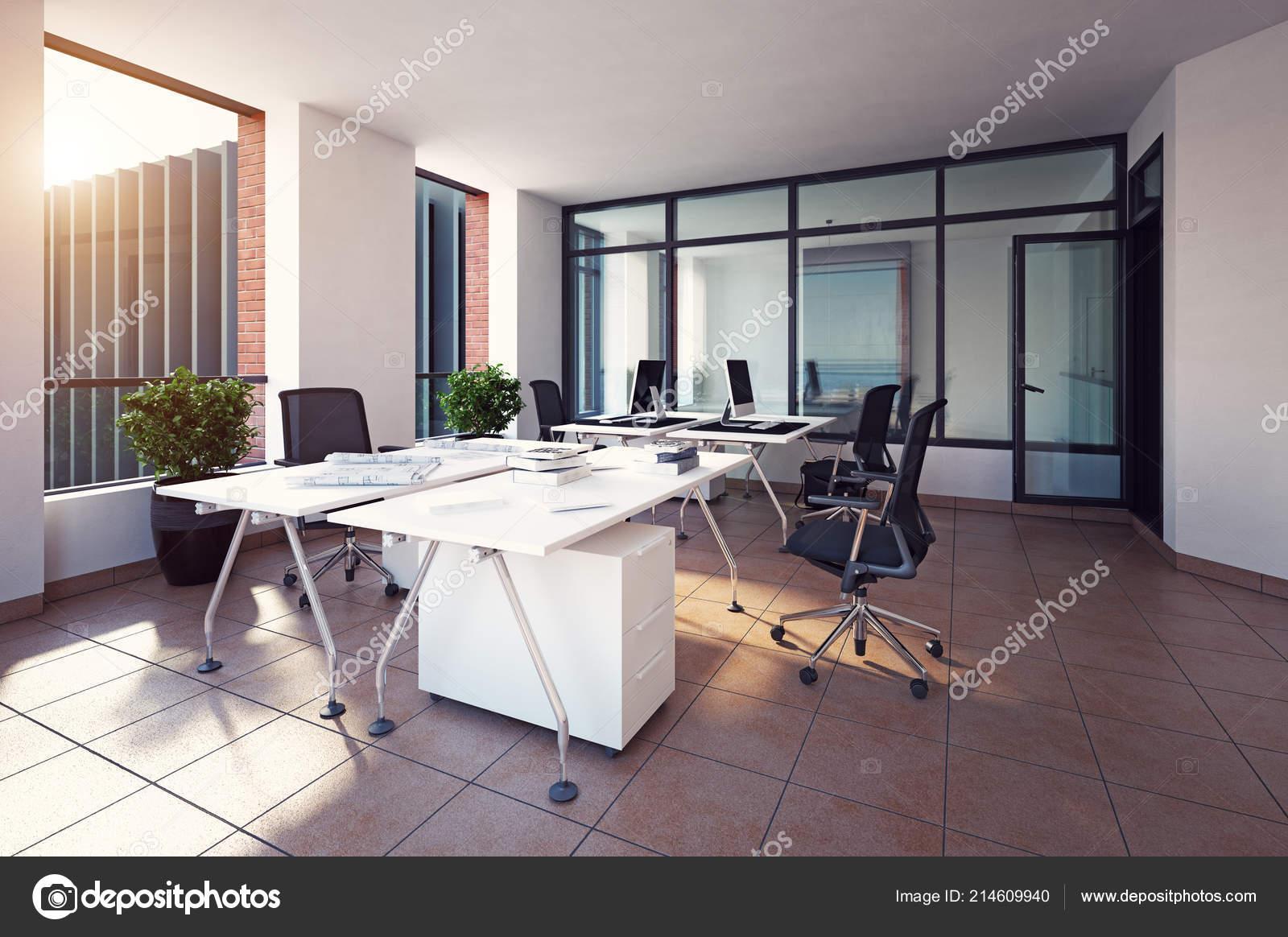 Diseño Interiores Oficinas Modernas Concepto Representación — Fotos ...