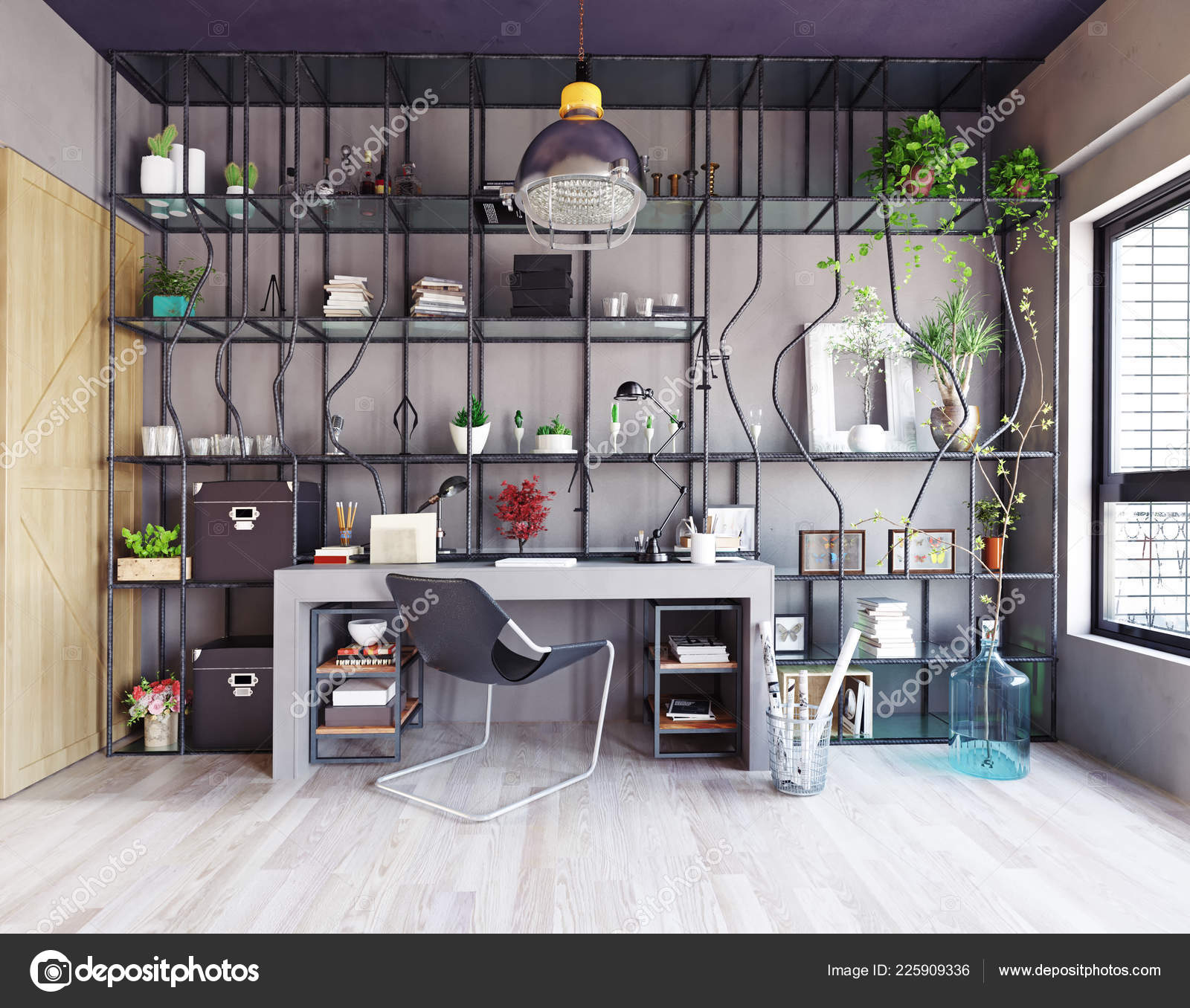 Creative Design Home Office Interior Design Concept Stock