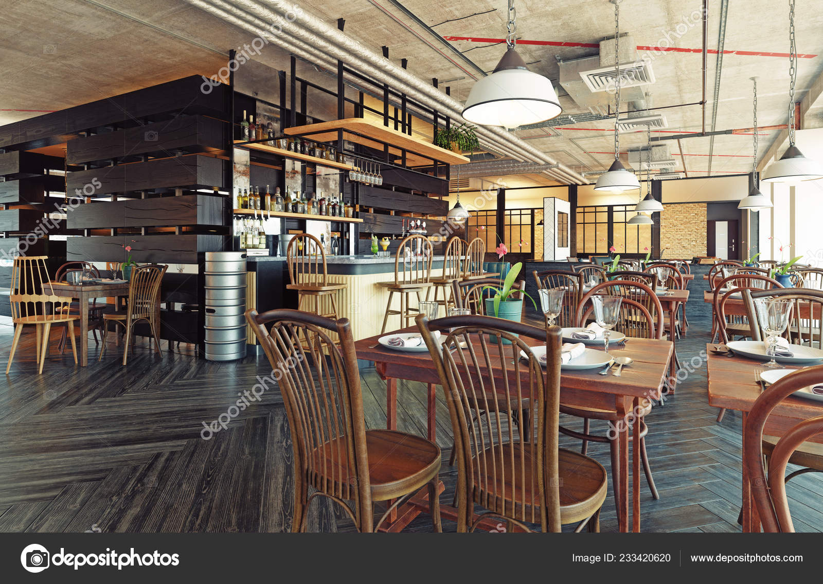 modern restaurant interior design rendering concept stock photo rh depositphotos com modern restaurant concepts linkedin modern restaurant design concept