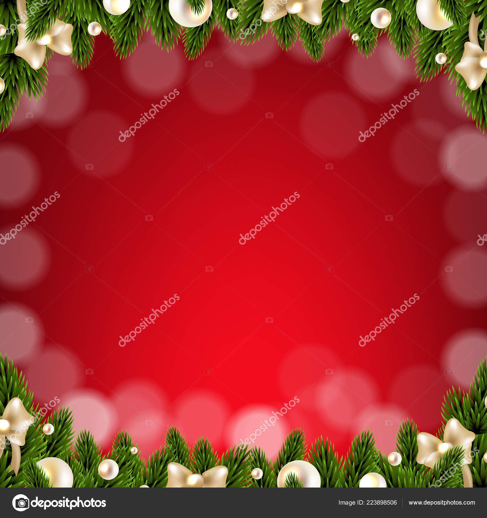 Christmas Card Border Gradient Mesh Vector Illustration Stock Vector C Adamson 223898506
