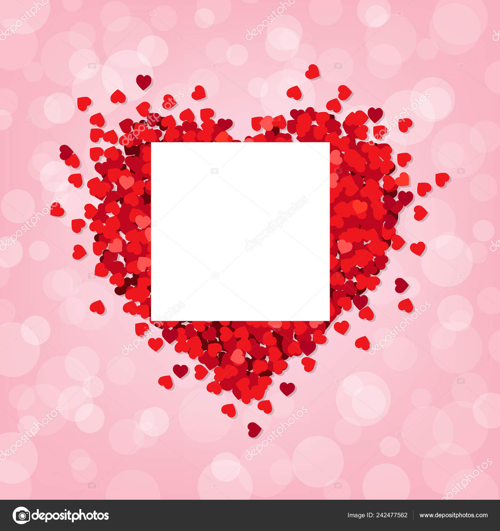 Red Heart Pink Background Banner Gradient Mesh Vector