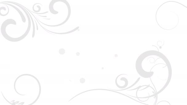 Animované květinové pozadí s prostorem pro text