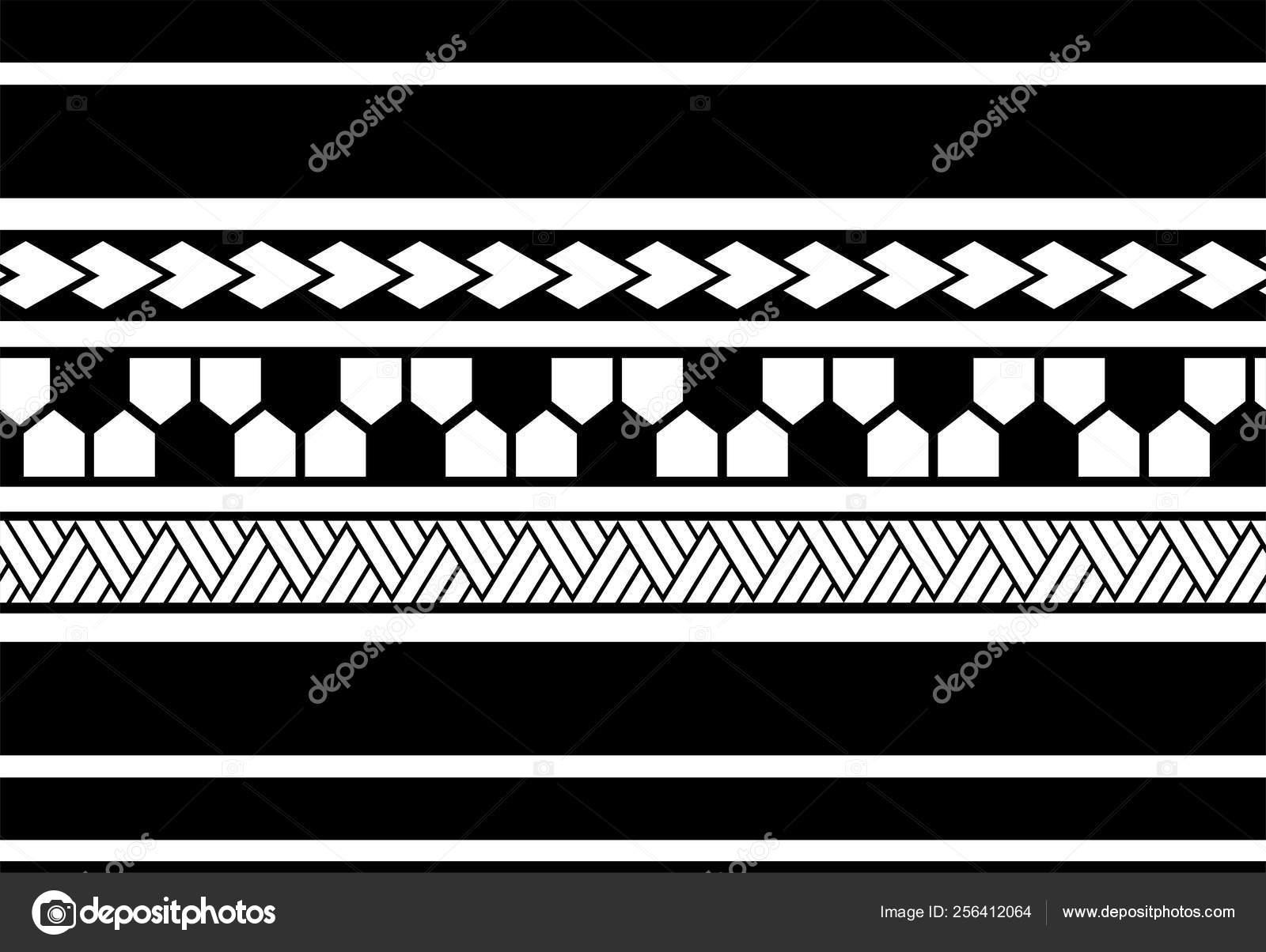 Polynesian Tattoo Sleeve Pattern Vector Samoan Sketch Forearm Foot