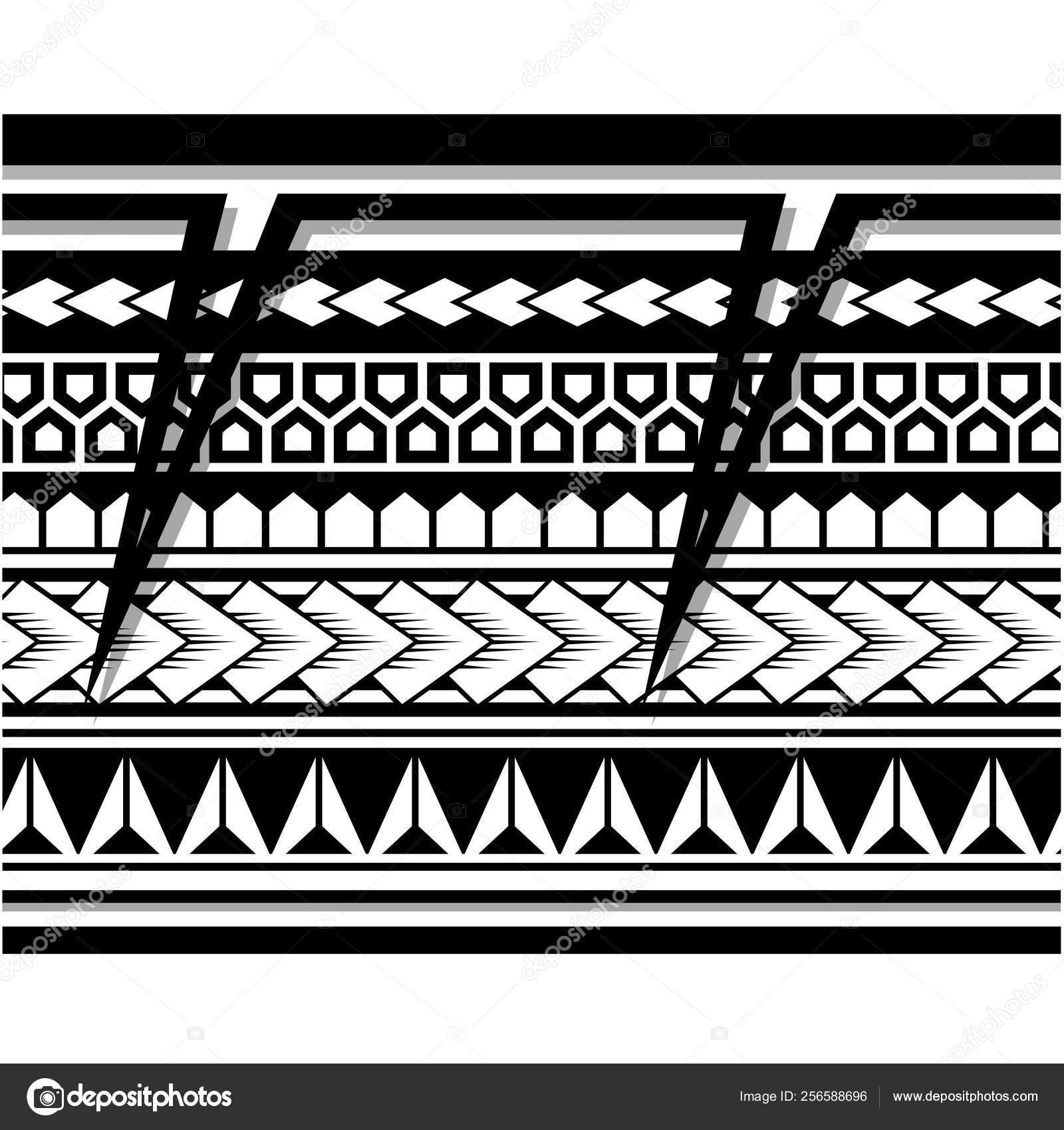 Polynesian Tattoo Rękaw Wzór Wektor Samoańskie Szkic
