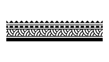 Samoan aboriginal tribal pattern, polynesian maori tattoo tribal pattern border