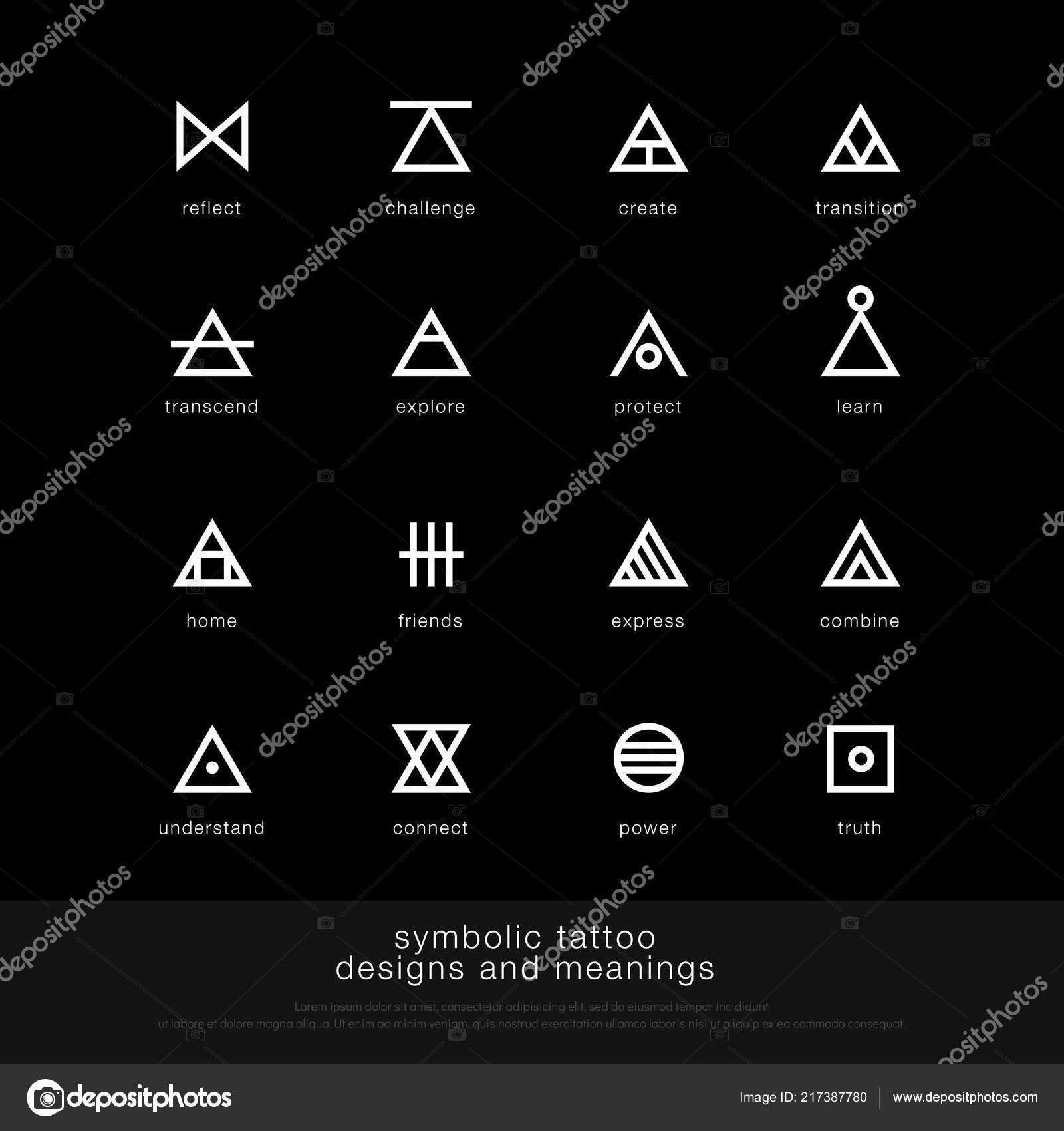 Symbolic Tattoo Design Meaning Minimalist Graphic Tattoo Icon Symbol