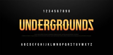 Modern sans serif font creative alphabet. Typography urban, trandy fonts undergrounds logo design. vector illustration