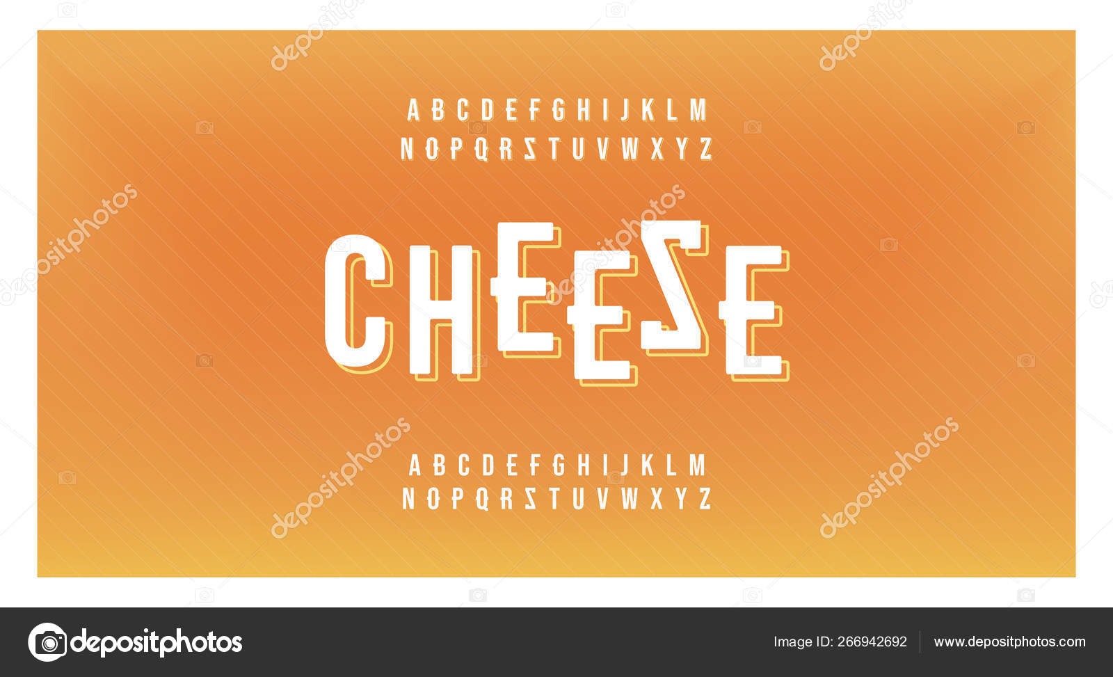 Cheese Minimal Food Font Creative Modern Alphabet Typography