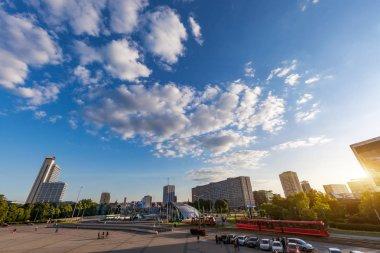 Katowice, Rondo - city center panoramic view