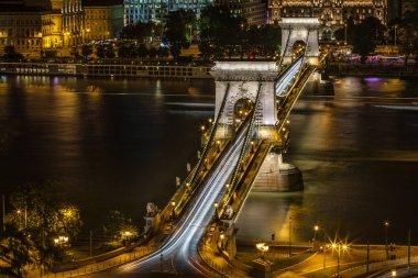 Traffic at the Chain Bridge, Budapest