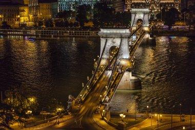 Chain Bridge by Night, Budapest