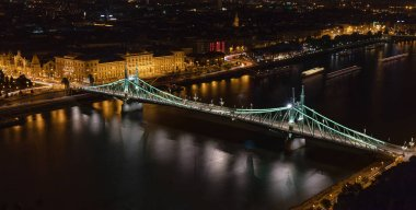 Szabadsag Bridge, Budapest - night view