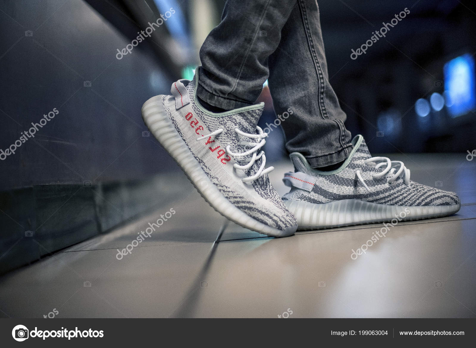 timeless design 03ab0 52cfd Pictures: yeezy shoes | Milan Italy January 2018 Man Wearing ...