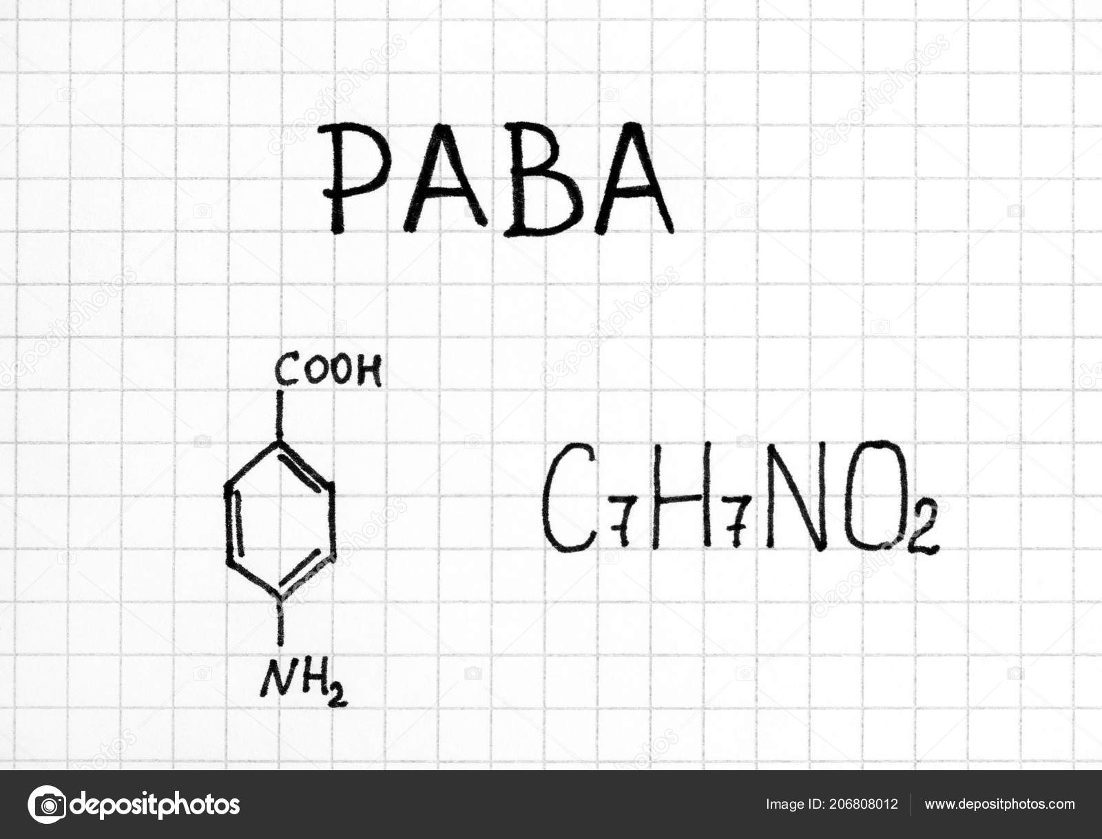Chemical Formula Paba Close Rosinka79 206808012