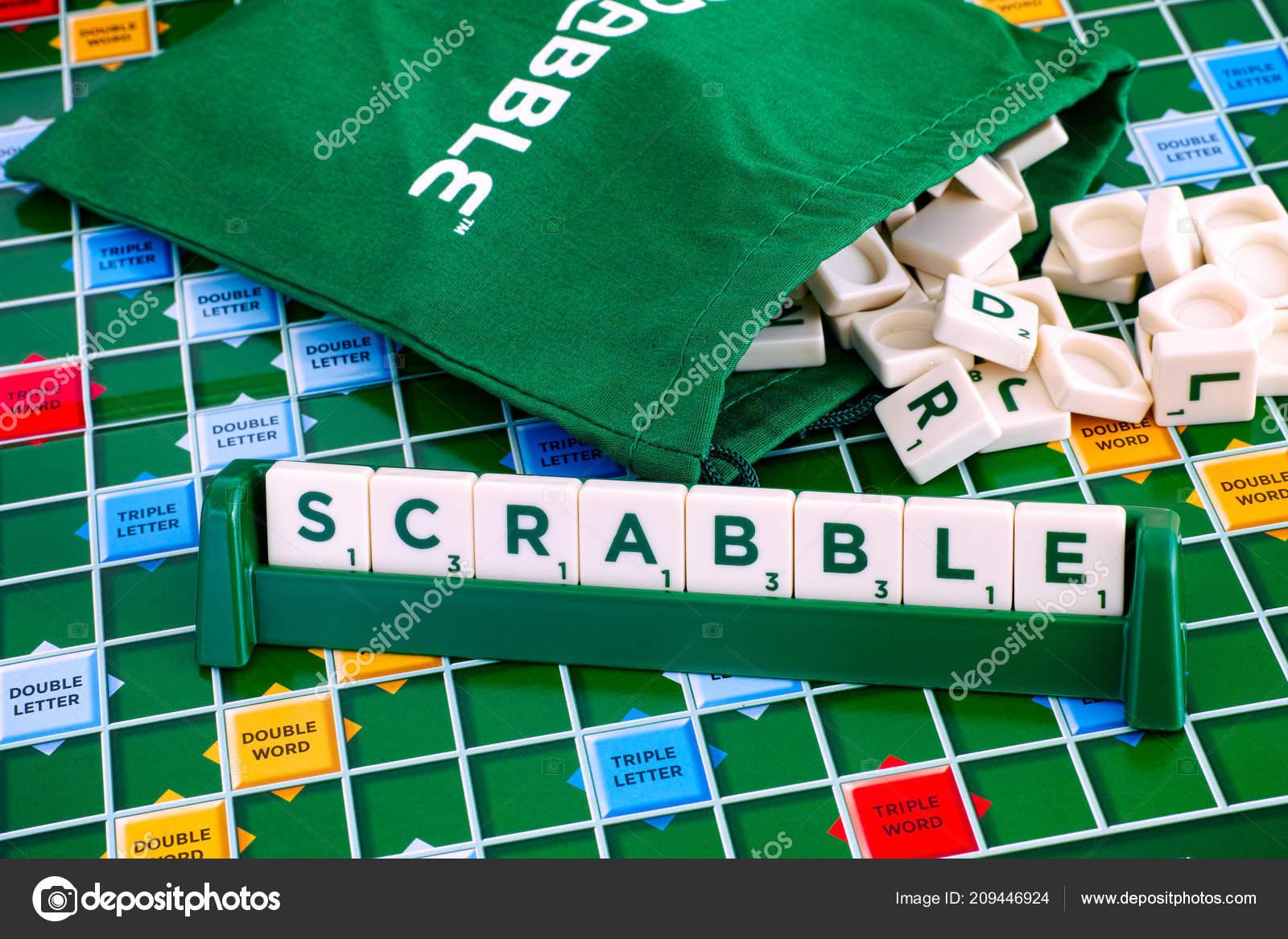 Tambov Rusia Juego Mesa Scrabble Mayo 2018 Scrabble Azulejos Letra