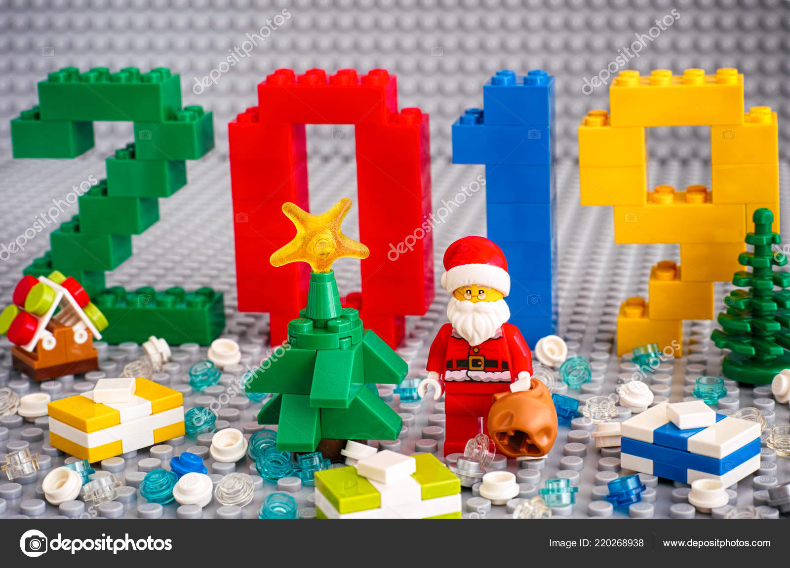 Lego Christmas Set 2019.Tambov Russian Federation September 2018 Numbers 2019 Made