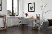 Interiér moderní obývací pokoj s pohovkou a nábytek 3d vykreslování