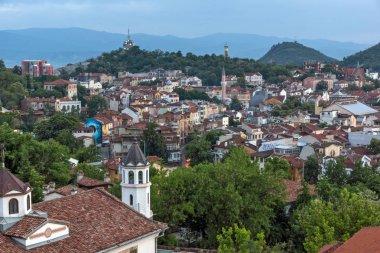 PLOVDIV, BULGARIA - MAY 24, 2018: Amazing Night Panorama to City of Plovdiv from Nebet Tepe hill, Bulgaria