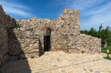 PERISTERA FORTRESS, PESHTERA, BULGARIA - MAY 5, 2018: Ruins of Ancient Byzantine fortress The Peristera in town of Peshtera, Pazardzhik Region, Bulgaria