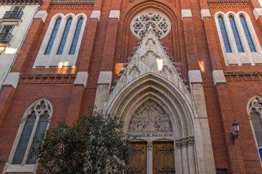 MADRID, SPAIN - JANUARY 23, 2018:  Amazing view of Church of Santa Cruz in City of Madrid, Spain