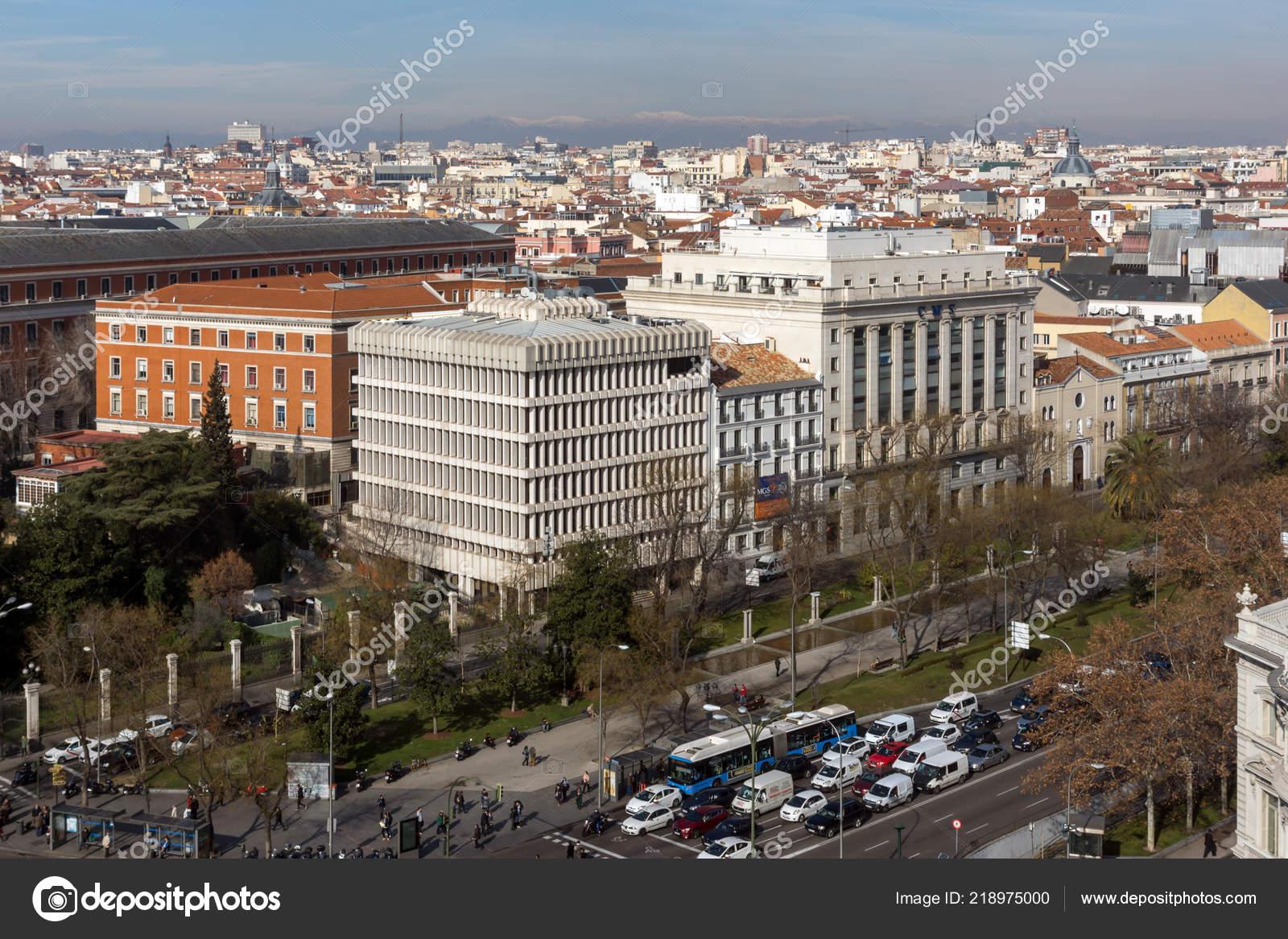 Madrid España Enero 2018 Vista Panorámica Desde Terraza Del