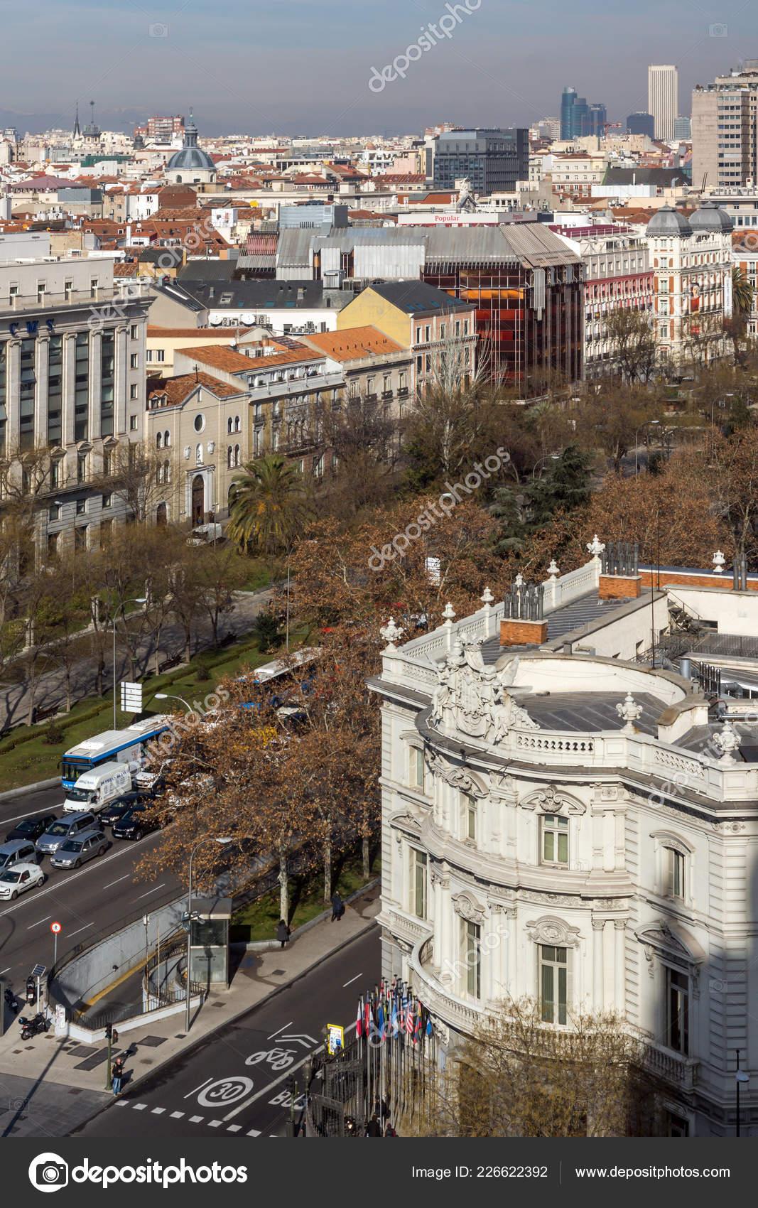 Madrid España Enero 2018 Vista Desde Terraza Del Palacio