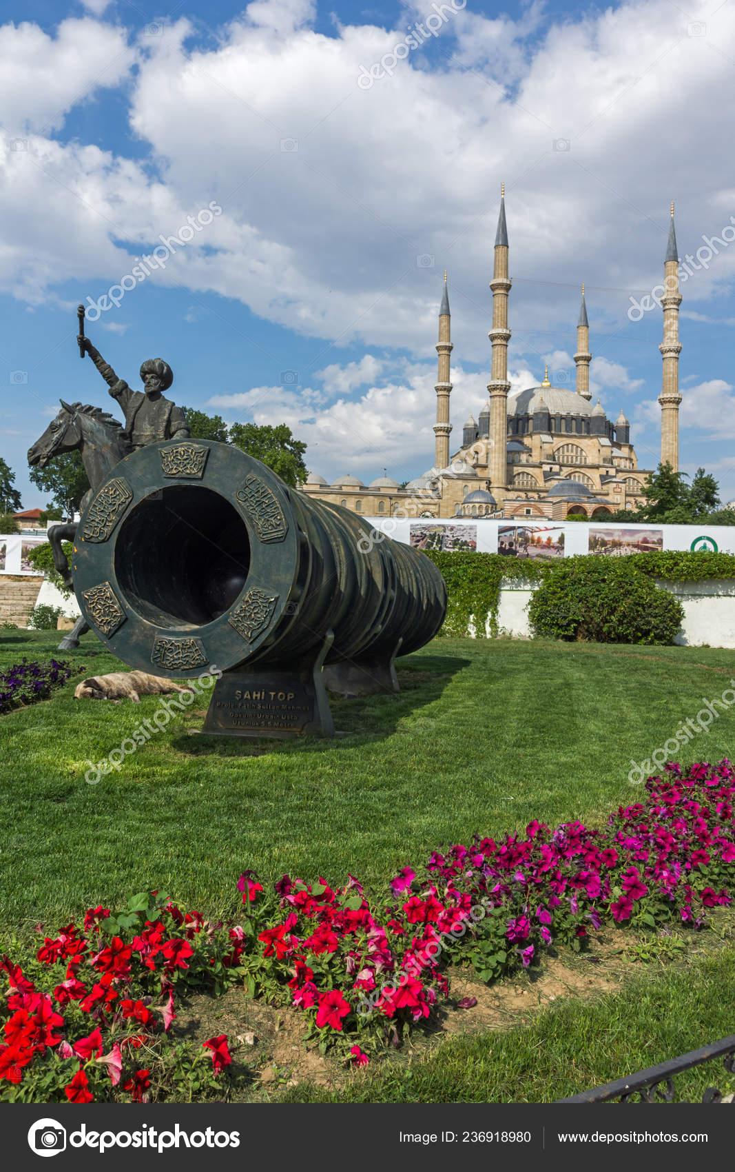 Edirne Turkey May 2018 Monument Ottoman Sultan Mehmed Medieval