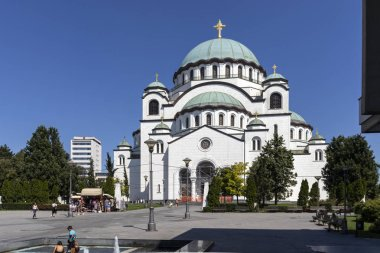 Church of Saint Sava in city of Belgrade, Serbia
