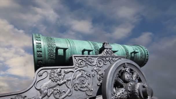 40tunové dělo, moskevského Kremlu, Rusko – je velký, 5.94 m (19,5) dlouhé dělo na displeji na základě moskevského Kremlu