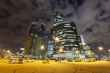 MOSCOW, RUSSIA  AUGUST 15, 2017: Skyscrapers of the International Business Center (City), Moscow, Russia