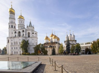 Inside of Moscow Kremlin, Russia (day).