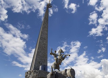 MOSCOW, RUSSIA  SEPTEMBER 16, 2014: War memorial in Victory Park on Poklonnaya Hill (Gora), Moscow, Russia. The memorial complex constructed in memory of those who died during the Great Patriotic war