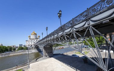 Christ the Savior Cathedral and Patriarshy Bridge (day), Moscow, Russia